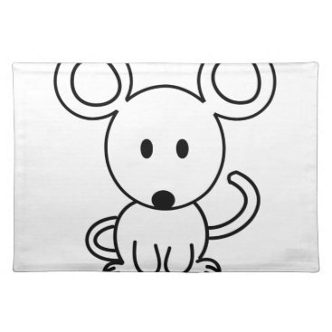 jasmineflynn Mouse Cloth Placemat