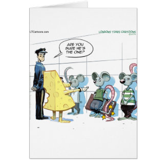 Mouse Crimes by Rick London Funny Card
