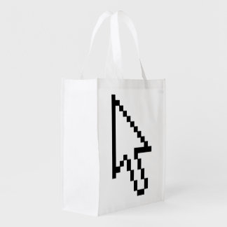 Mouse Cursor Arrow Graphic Reusable Grocery Bag