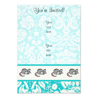 Mouse; Cute 5x7 Paper Invitation Card