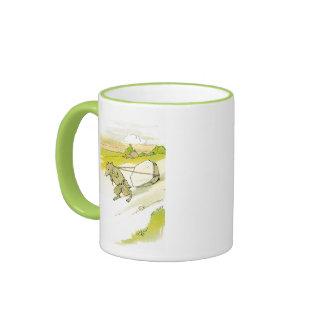 Mouse Dragging Big Rock Ringer Coffee Mug