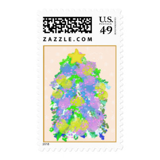 Mouse Drawn Christmas Tree Stamp