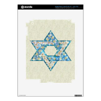 Mouse-Drawn Gem Decorated Star Of David iPad 3 Decal