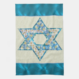 Mouse Drawn Gem Decorated Star Of David Towel