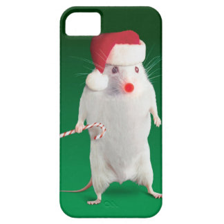 Mouse dressed as Santa Claus iPhone 5 Covers