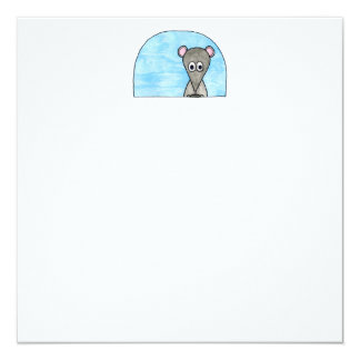 Mouse Driving a Car. 5.25x5.25 Square Paper Invitation Card