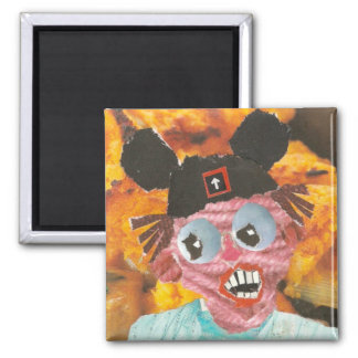 Mouse Ears 1 2 Inch Square Magnet