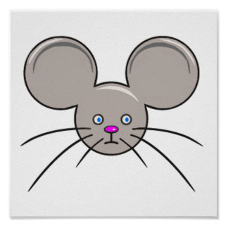 Mouse Face Poster