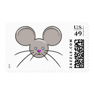 Mouse Face transparent Postage