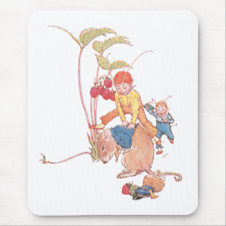 Mouse & Fairies Playing Leapfrog Mouse Pad
