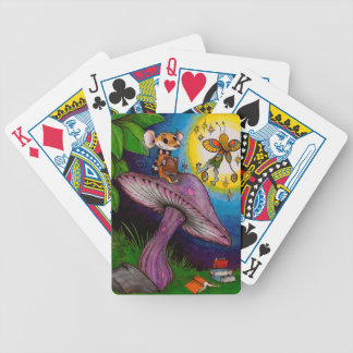 Mouse & Fairy on a Mushroom Bicycle Playing Cards