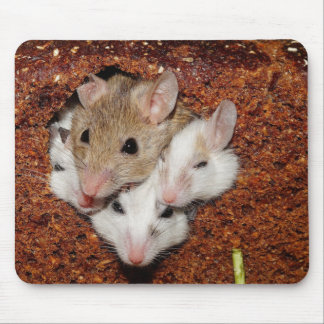 Mouse Family in a Loaf of Bread Mouse Pad