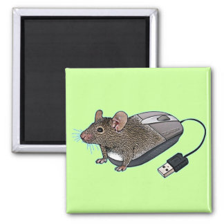 Mouse from Zazzle 2 Inch Square Magnet