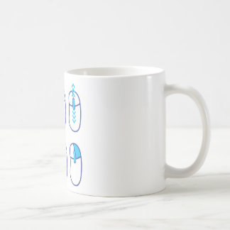 Mouse functions indicated coffee mug