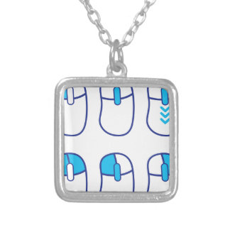 Mouse functions indicated square pendant necklace