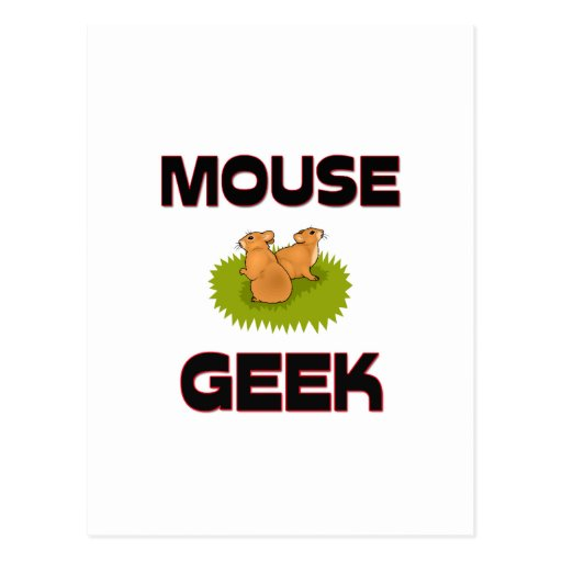 Mouse Geek Postcard