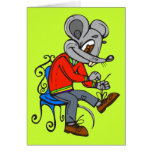Mouse Getting Dressed Stationery Note Card