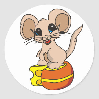 Mouse Got the Cheese Classic Round Sticker