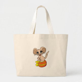 Mouse Got the Cheese Large Tote Bag