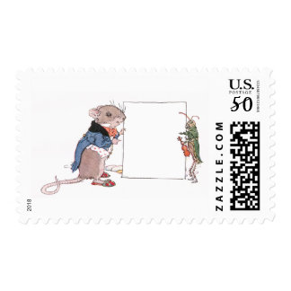 Mouse & Grasshopper Hold Your Photo Postage