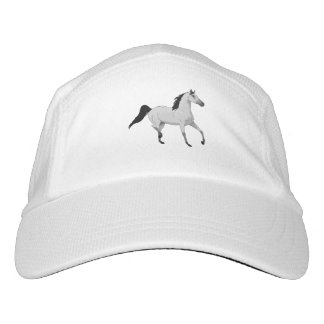 Mouse Grey Arabian Horse Trotting and Prancing Headsweats Hat