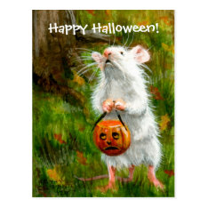 Mouse Happy Halloween! Postcard at Zazzle