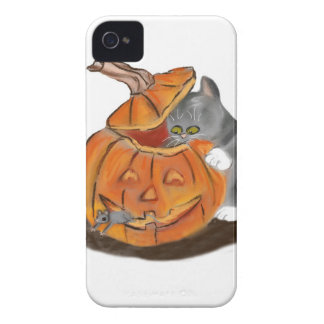 Mouse Hide and Seek in a Carved Pumpkin Case-Mate iPhone 4 Case