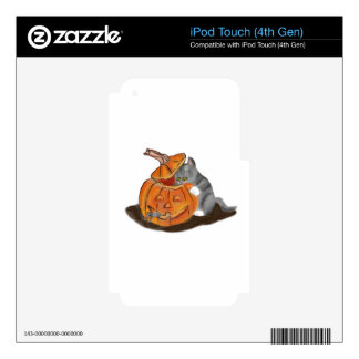 Mouse Hide and Seek in a Carved Pumpkin Decal For iPod Touch 4G