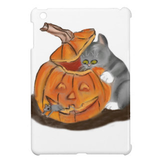 Mouse Hide and Seek in a Carved Pumpkin iPad Mini Covers