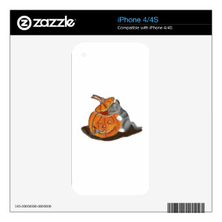 Mouse Hide and Seek in a Carved Pumpkin Skin For iPhone 4