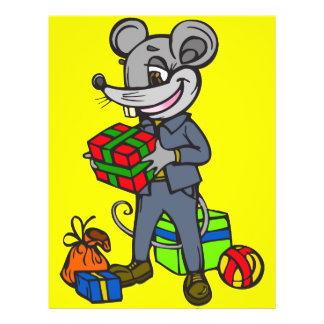 Mouse Holding Gifts Flyer