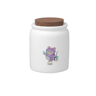 MOUSE ICE SKATING CANDY JAR