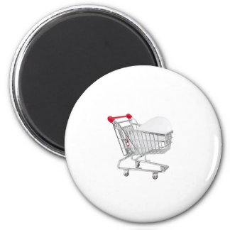 mouse in a shopping trolley magnet