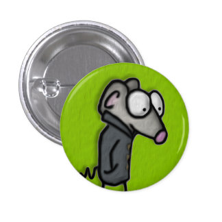 Mouse in a Trench Pinback Button