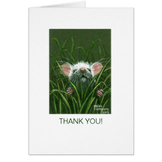 Mouse in Grass THANK YOU Card