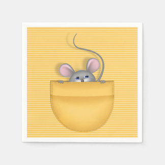 Mouse in Pocket Paper Napkin