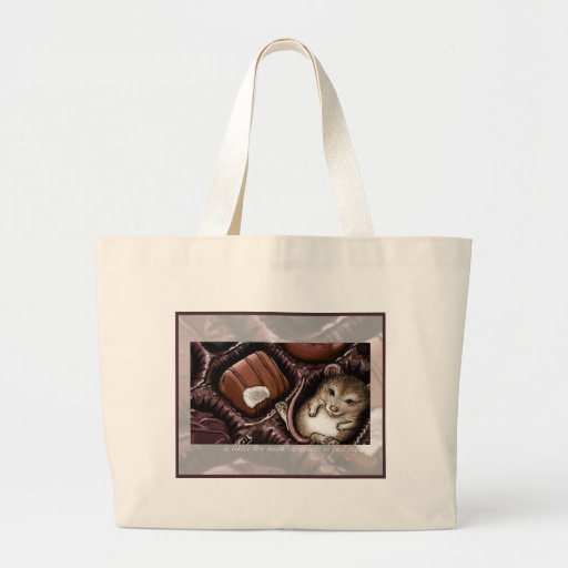 Mouse in the Chocolate Box Canvas Bag