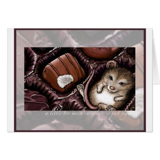 Mouse in the Chocolate Box Card