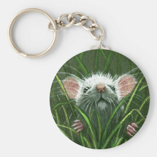 Mouse in the Grass Keychain