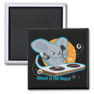 Mouse in the House 2 Inch Square Magnet