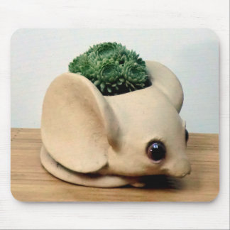 Mouse in the House by Succulent Designs Mouse Pad