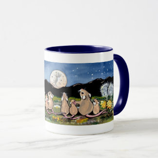"""Mouse in the Moon"", Mice Watching the Moon Mug"