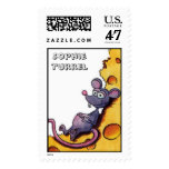 Mouse in the Swiss Cheese by Sophie Turrel Postage