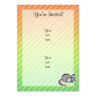 Mouse 5x7 Paper Invitation Card