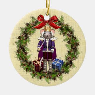 Mouse King Feliz Navidad Spanish Ornament