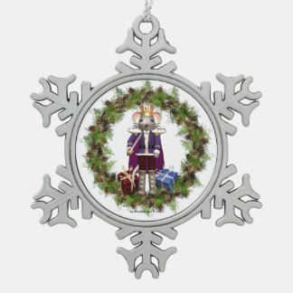 Mouse King Nutcracker Snowflake Ornament
