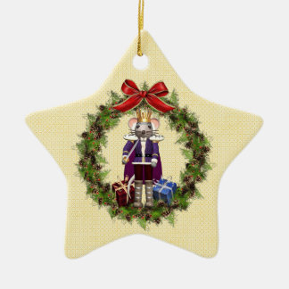 Mouse King Wreath Star Ornament