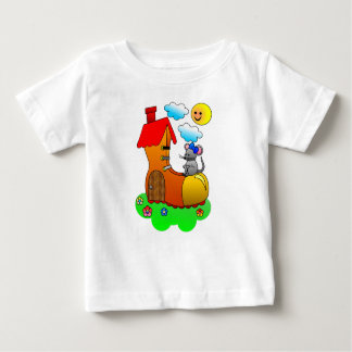 Mouse Living in a Shoe / Boot Baby T-Shirt