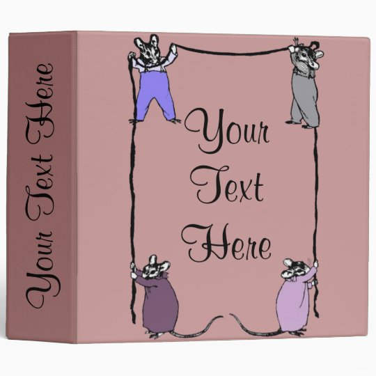 Mouse Love Customizable Binder