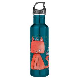 Mouse Loves Kitty Cat Water Bottle